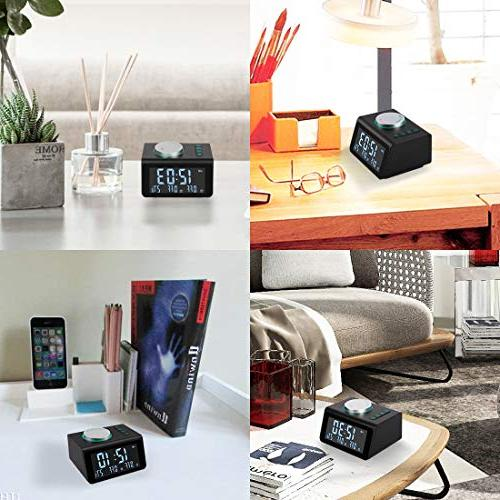Radio with Radio,Dual Alarms with Sounds,5 Dimmer,Headphone Jack,Bedrooms Sleep Timer