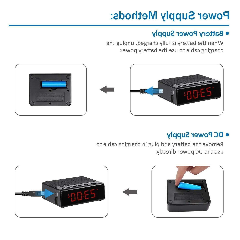 Alarm Clock Audio Bluetooth Speaker, Time
