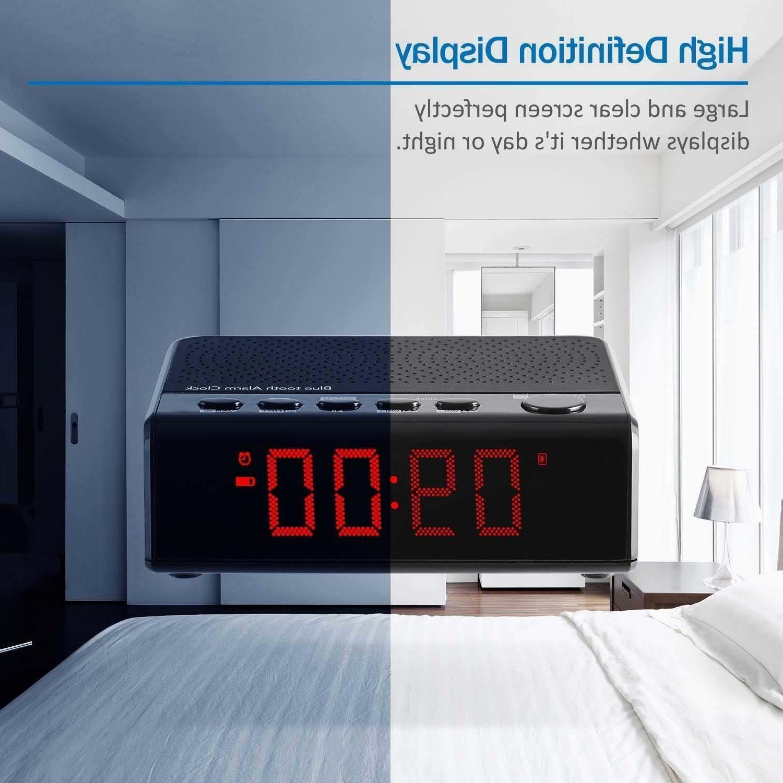 Alarm Clock Audio Bluetooth Radio, Time