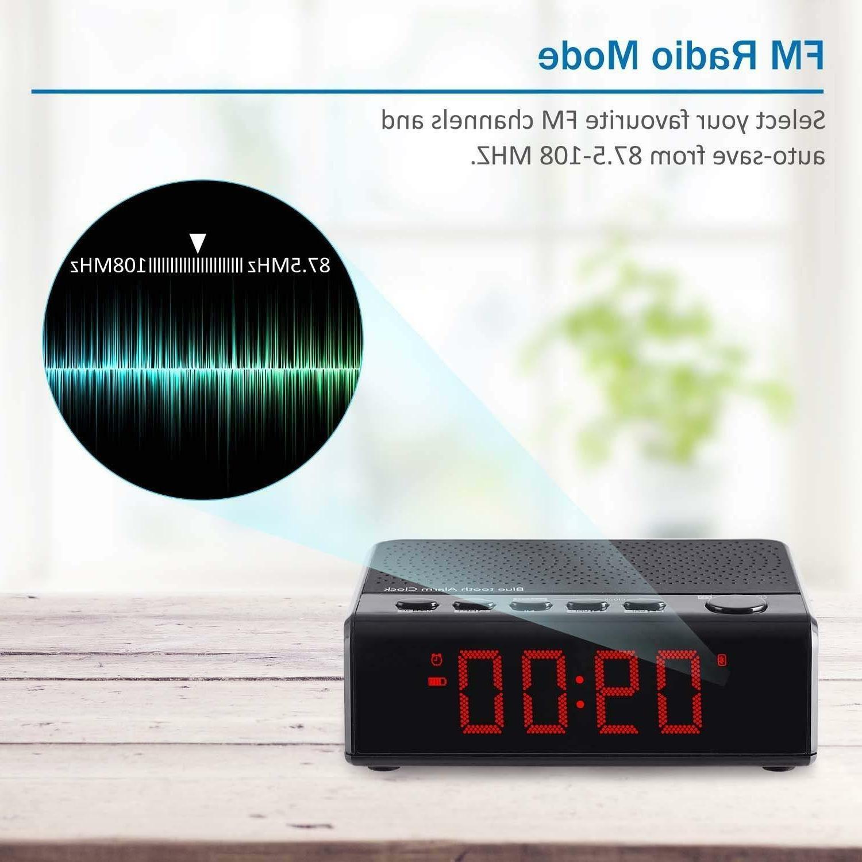 Alarm Clock with Audio Speaker, Radio, Time