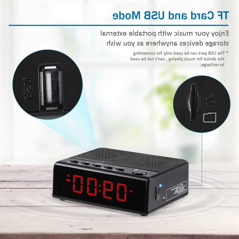 Alarm Radio with Radio, 6'' digital LED Time