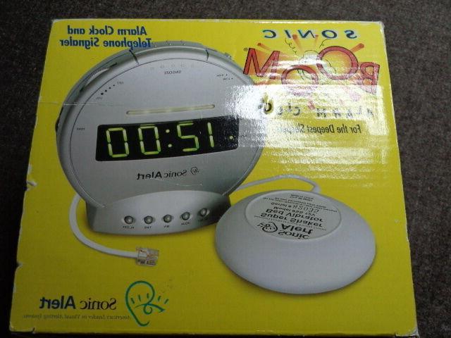 alarm clock sonic boom wake up alert