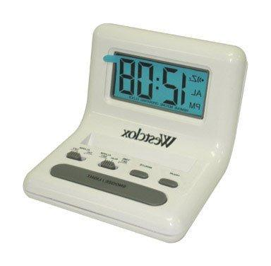 alarm clock white 2 aaa