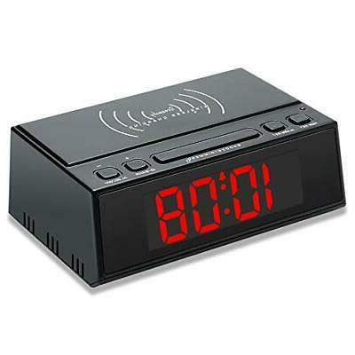 DreamSky Alarm Clock Wireless Charging, USB Large