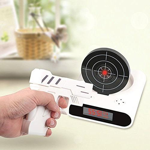 alarm clocks gun shooting target