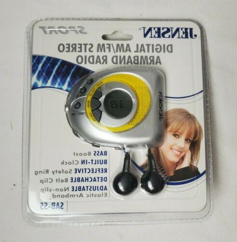 am fm stereo armband radio