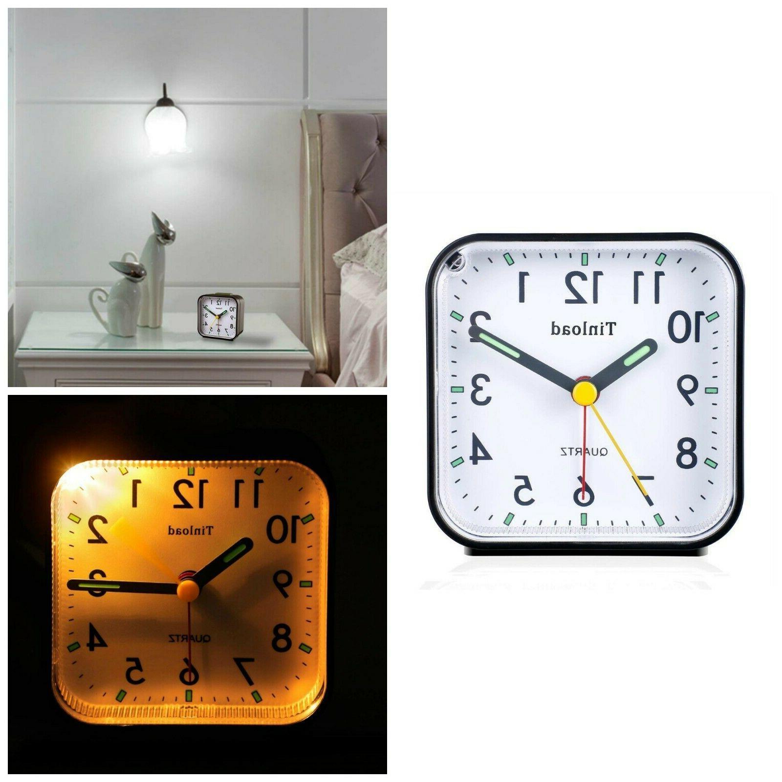 analog alarm clock battery operate light function