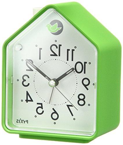 analog alarm clock chirping bird