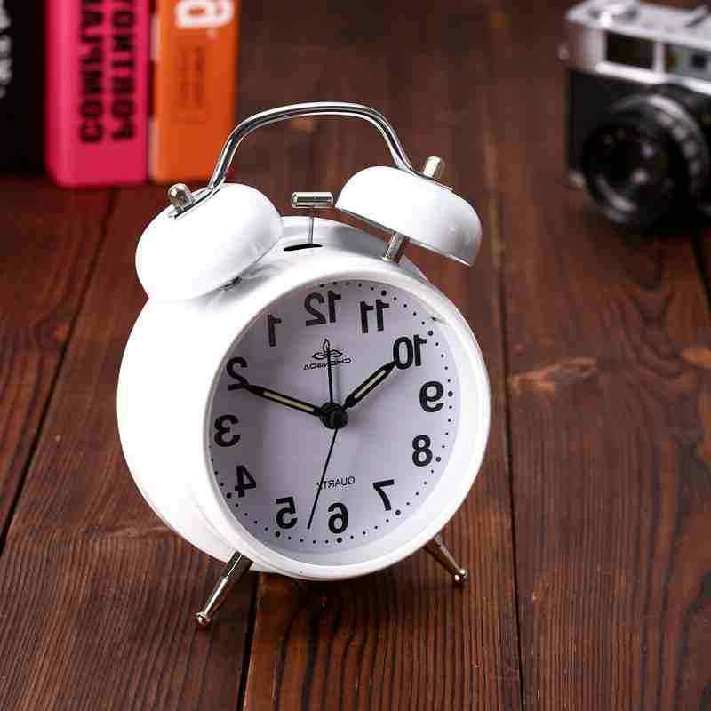 Analog Twin Bell Alarm Clock Vintage Retro Classic Bedroom B