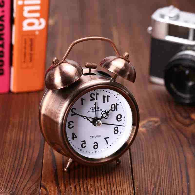 Analog Twin Bell Alarm Clock Vintage Retro Classic Bedroom B