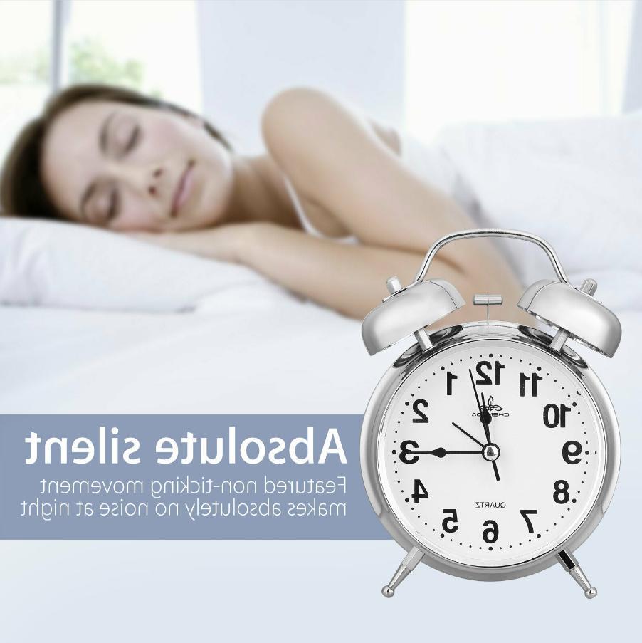 Analog Twin Bell Clock Classic Bedroom