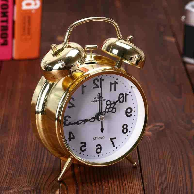 Analog Bell Alarm Clock Vintage Bedroom