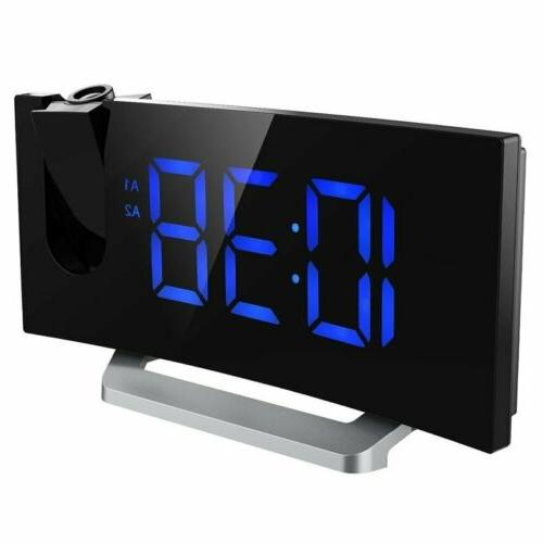 arc led projection alarm clock with usb