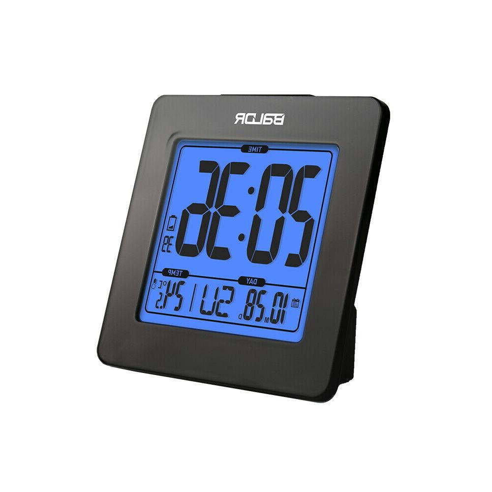 BALDR B0114 Atomic Desk Alarm Clock LCD with Calendar Snooze