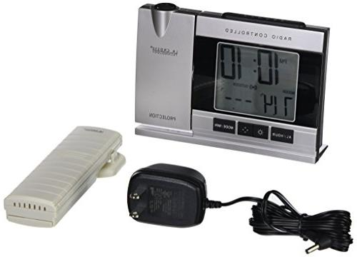 Atomic Projection Alarm Clock with Indoor Outdoor Temperature TECHNOLOGY