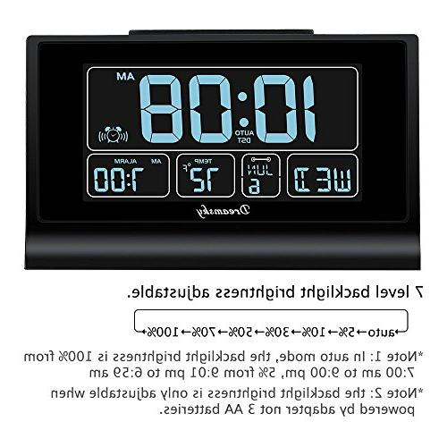 DreamSky Set Alarm Charging Screen Display, Full Auto DST Setting, Snooze, Backup