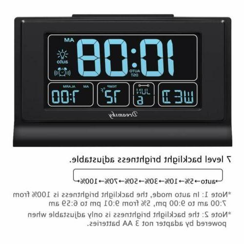 DreamSky Digital Alarm Clock,USB 6.6 Screen