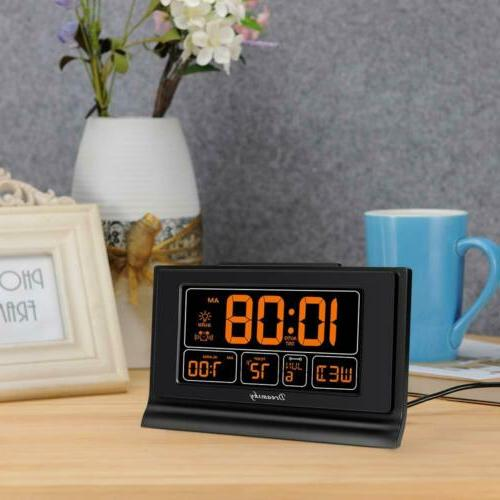 DreamSky Auto Set Alarm Clock,USB 6.6 Inch Screen