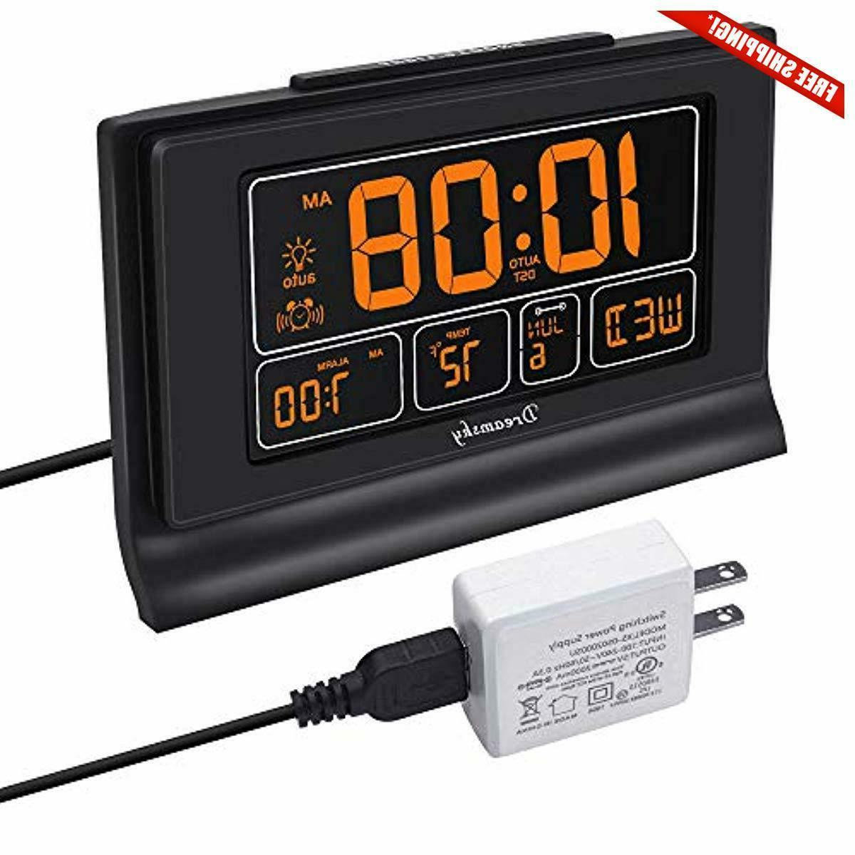 auto set digital alarm clock with usb