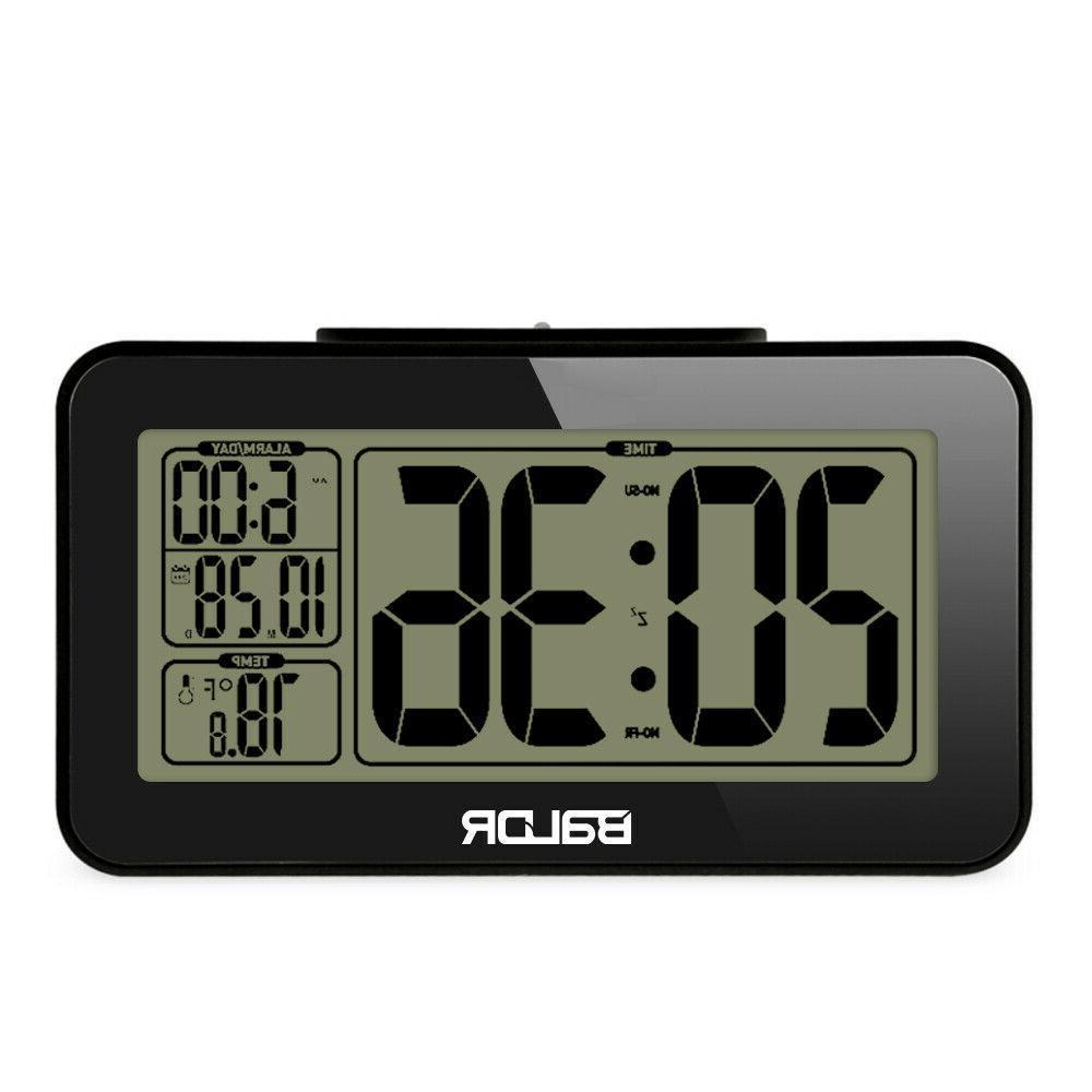 BALDR B0326 LCD Alarm Clock Table Snooze Home Desk Clock The
