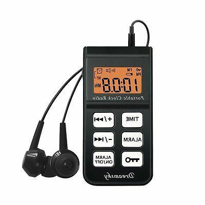 battery alarm clock radio