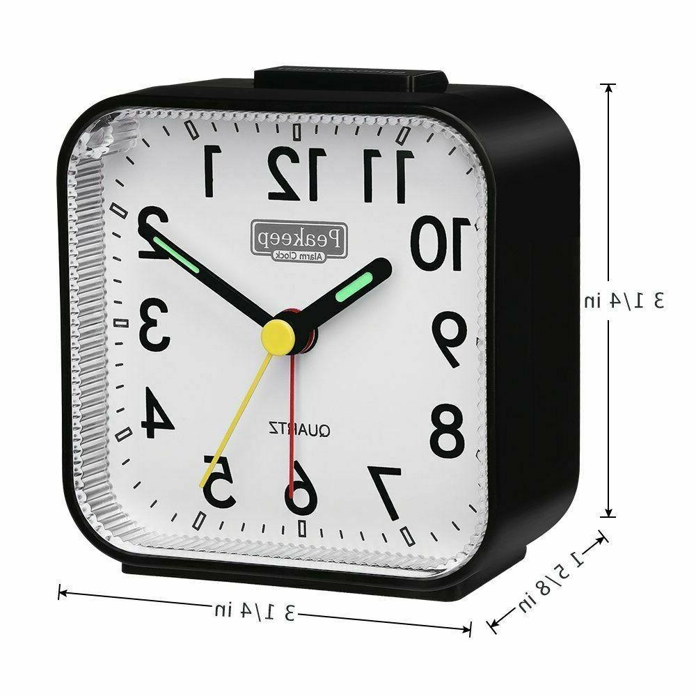Battery Analog Small Clock Silent No