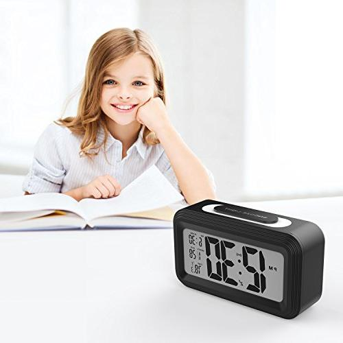 Battery Clock, Electronic LCD Digital Alarm Clocks with