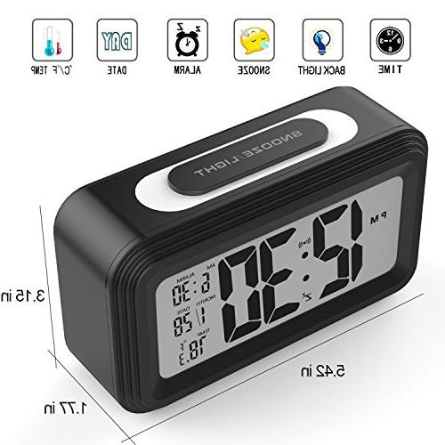 Clock, GABONE Electronic LCD Digital Alarm Clocks with
