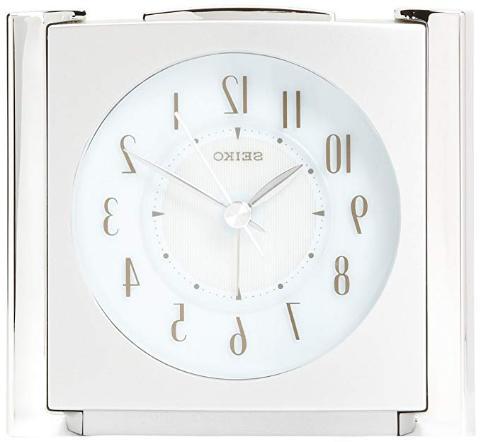 Seiko Bedside Alarm Clock QXE418SLH NEW Metallic Tone