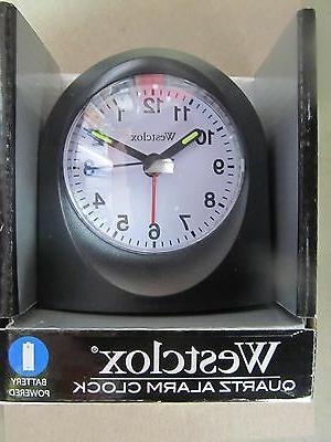 Bedside Analog Alarm Clock, Black