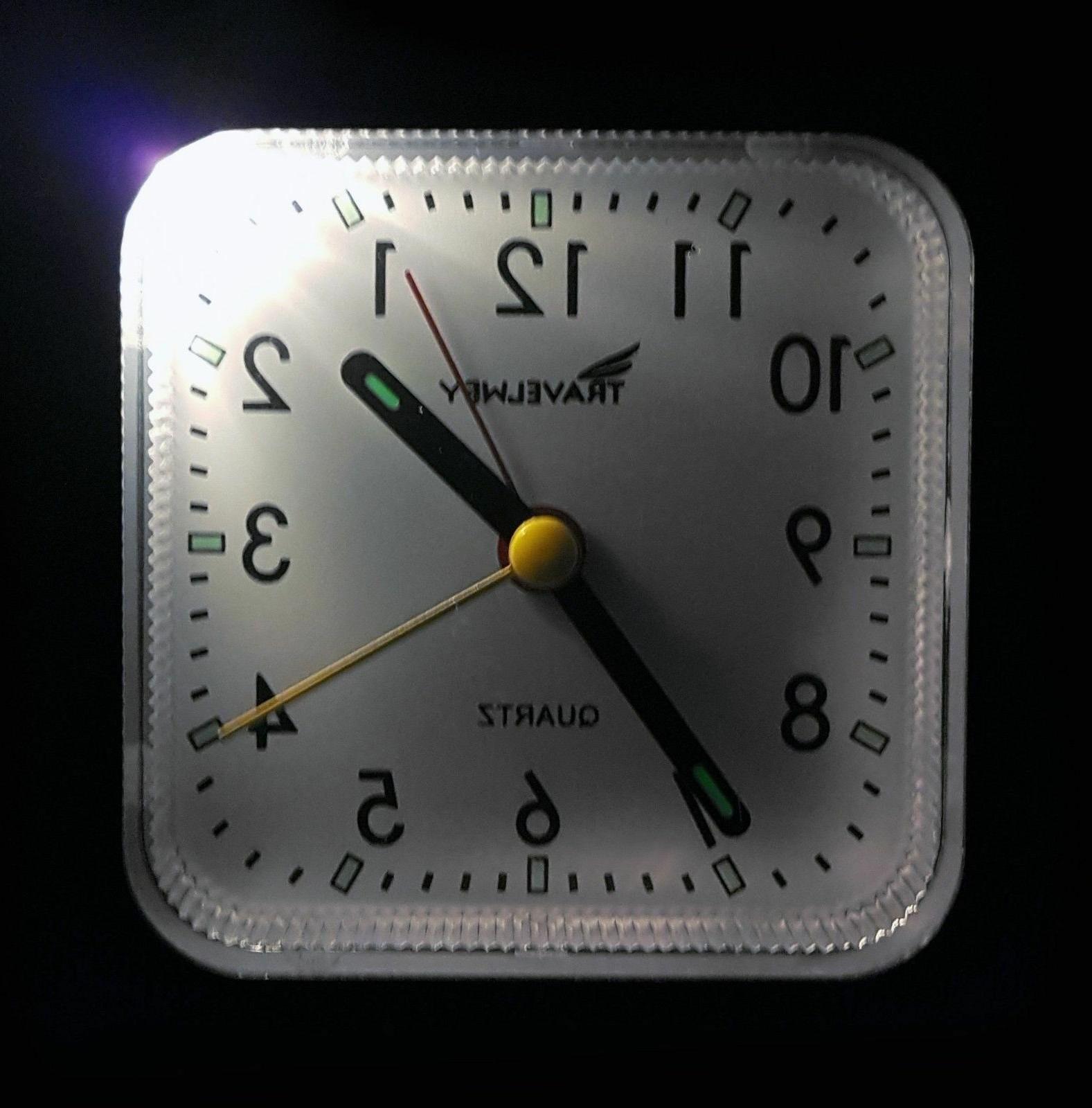 Bedside Travel Clock Quiet UPGRADED