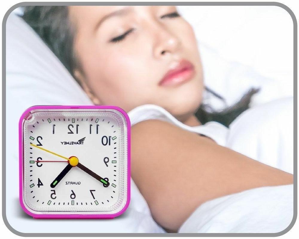 Bedside Travel Clock Quiet Snooze UPGRADED