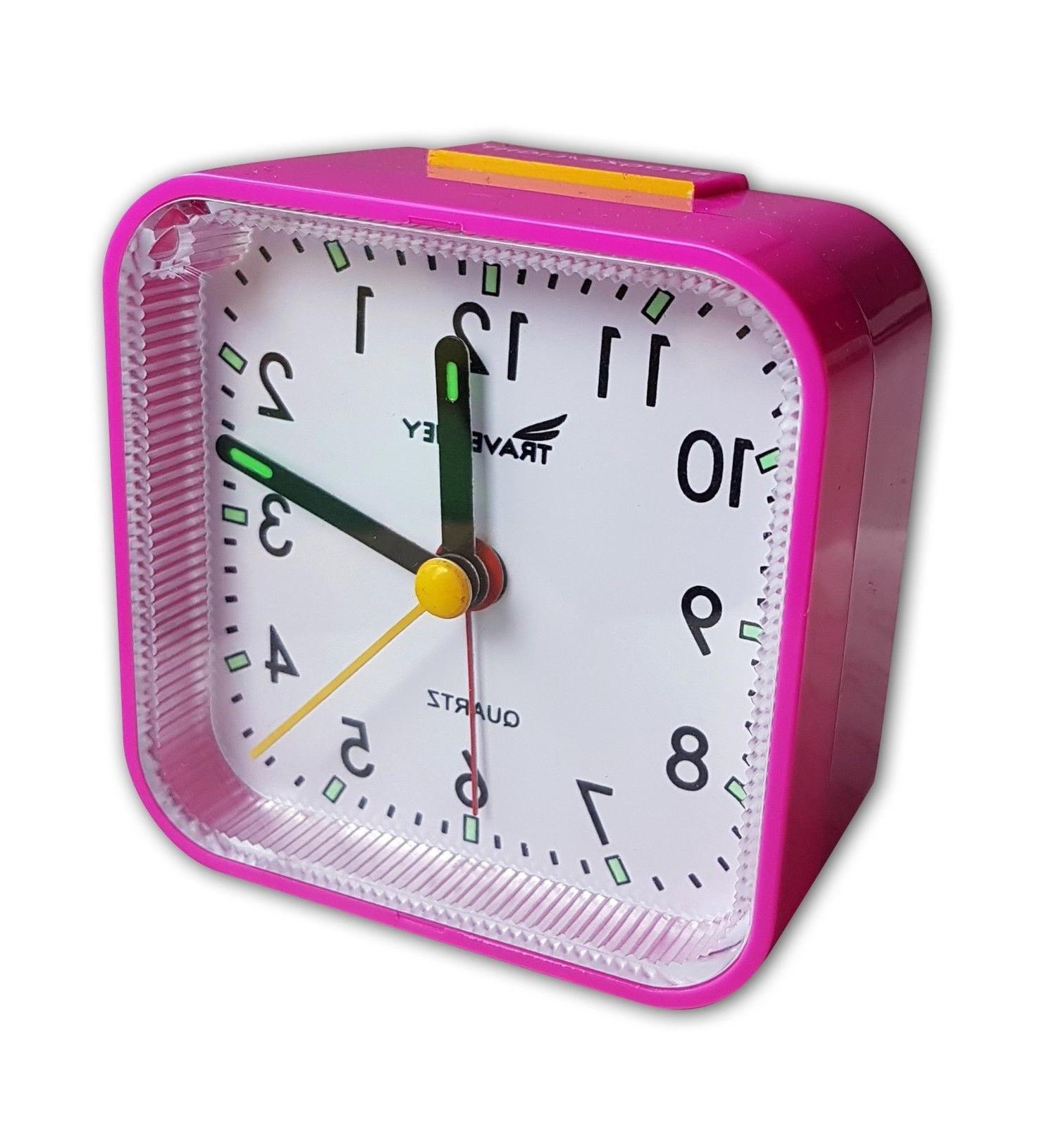 bedside travel alarm clock quiet alarm snooze
