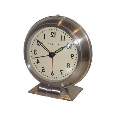 big ben classic alarm clock white quartz