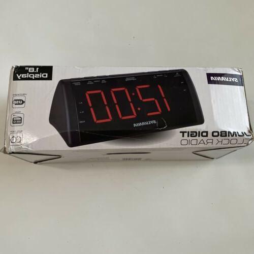 black jumbo dual alarm clock radio 1