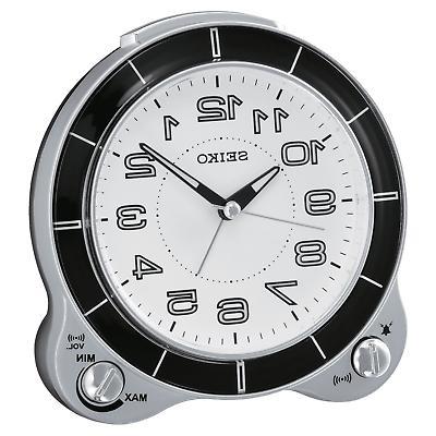 brand new round white dial alarm clock
