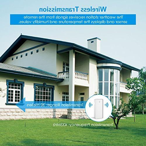 Brifit Wireless Hygrometer Indoor Outdoor Monitor, Digital Alarm & Function