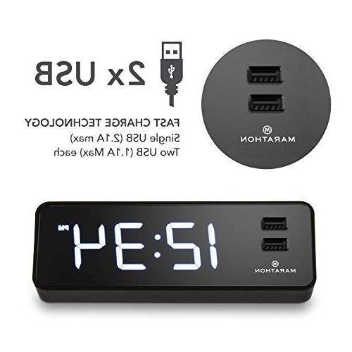 Marathon USB Clock Ports. Hotel Universal AC Adapter. Backup – Case with Light