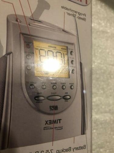 Timex Clock MP3 Cd Line Sounds Alarm T158W