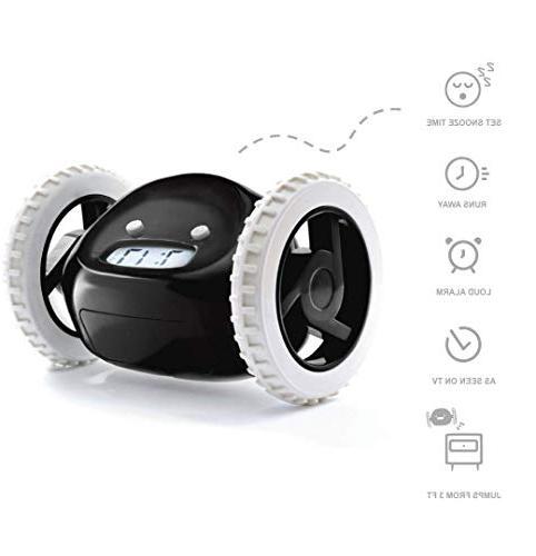 clocky alarm clock wheels