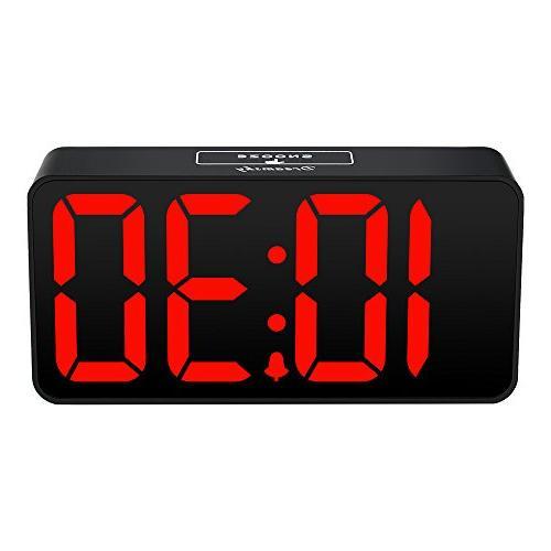 DreamSky Clock USB for Adjustable Dimmer, Display, 12/24Hr, Adjustable Alarm Volume, Desk Bedside