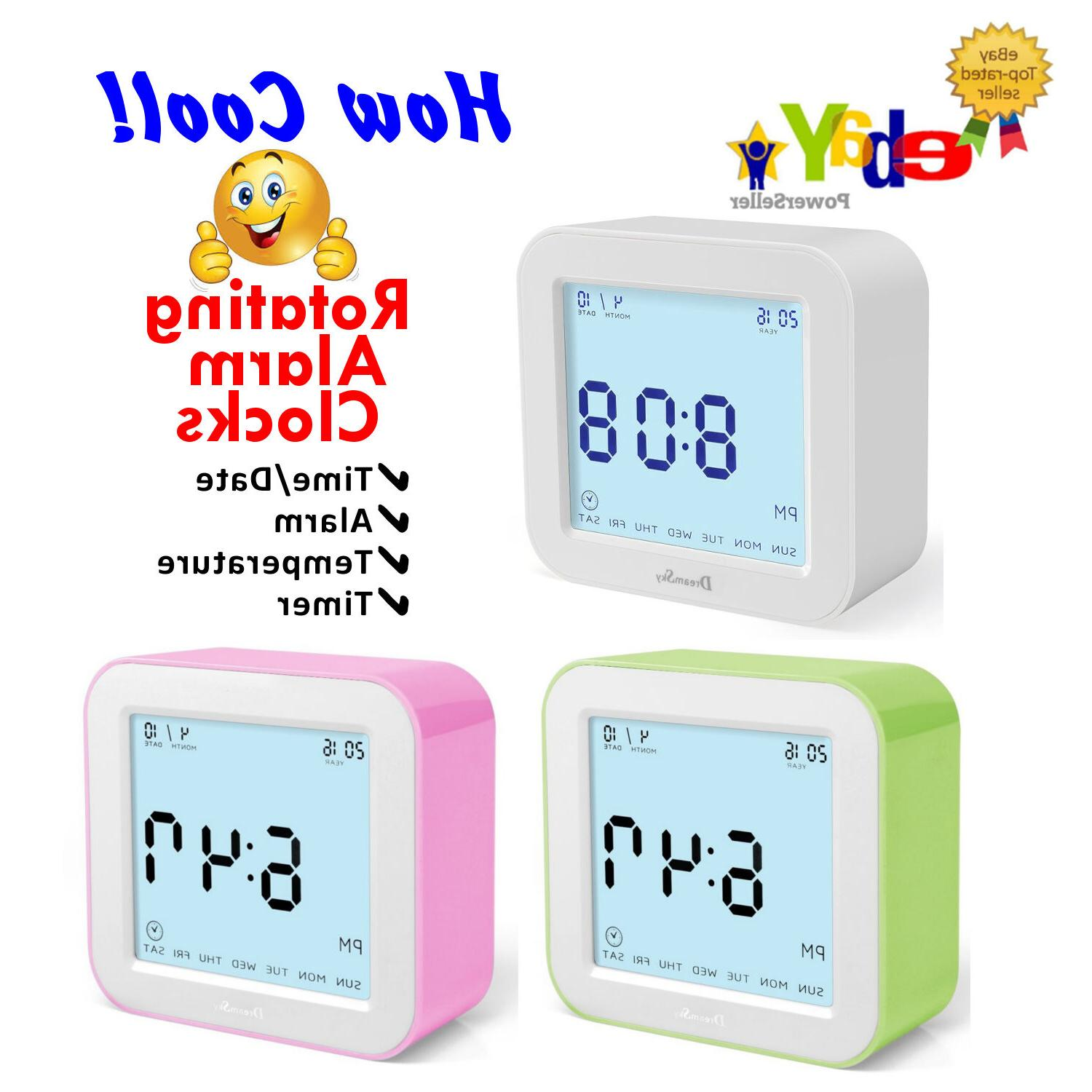 cool rotating digital alarm clock by 4