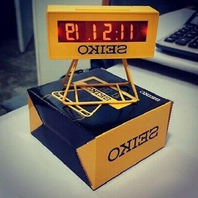 Seiko Countdown digital Clock beep snooze NEW