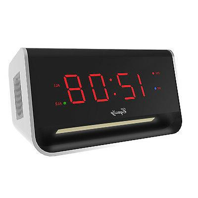 Equity by La Crosse 75910 LED Alarm with Bluetooth and USB P