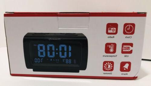 decent alarm clock fm radio usb port