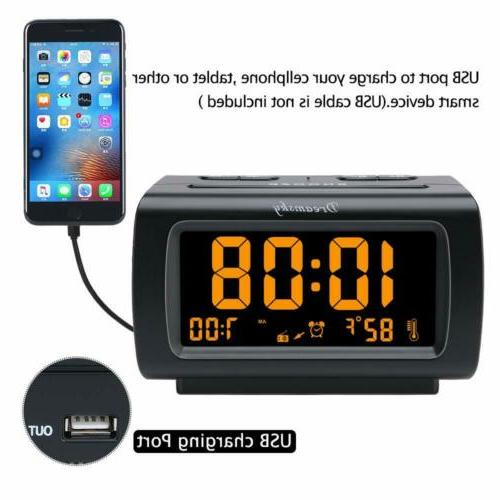 DreamSky Deluxe Alarm Clock Radio with USB