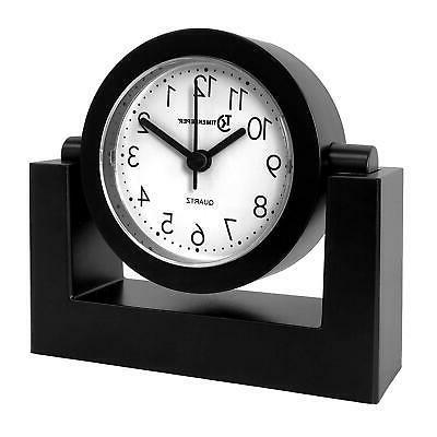 desktop swivel clock for desk shelf tabletop