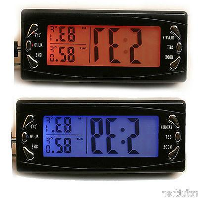 Digita Indoor Auto LCD Clock Thermometer with Alarm