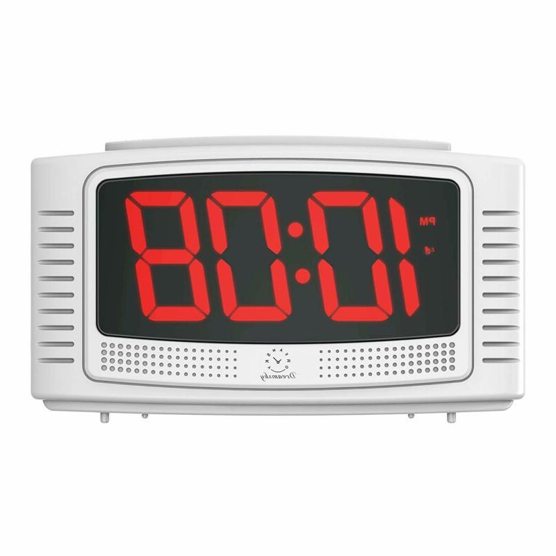 digital alarm clock 1 2 clear led