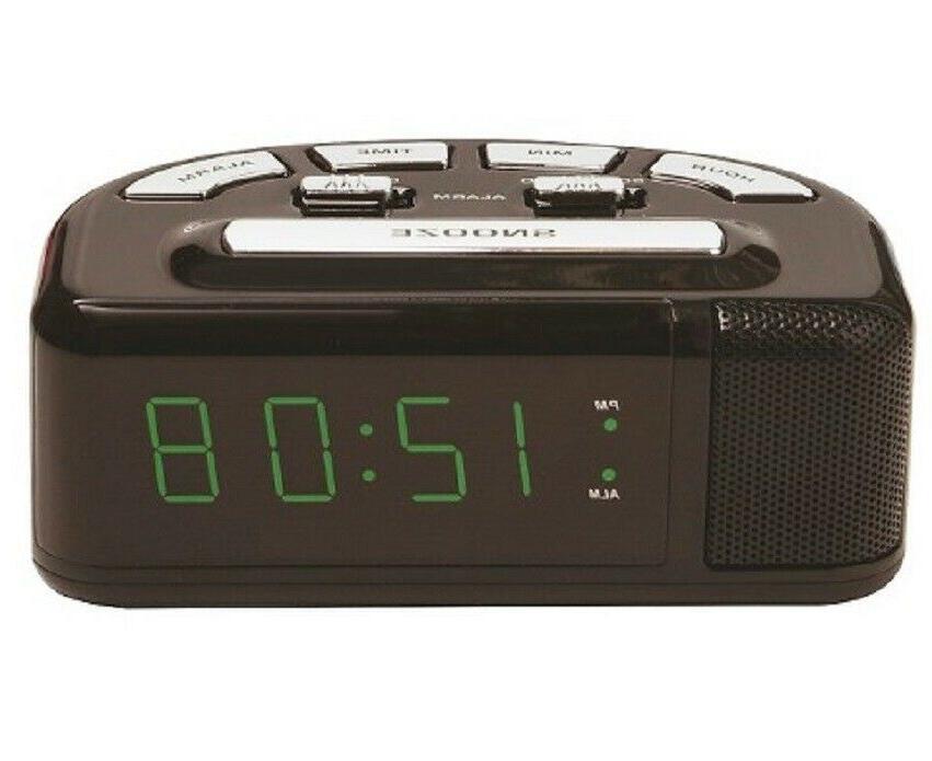 digital alarm clock black timelink room essentials